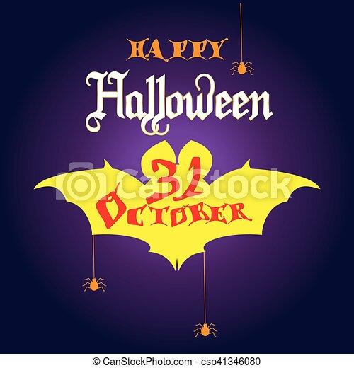 Halloween invitation halloween party invitation with halloween symbols halloween invitation csp41346080 stopboris Gallery