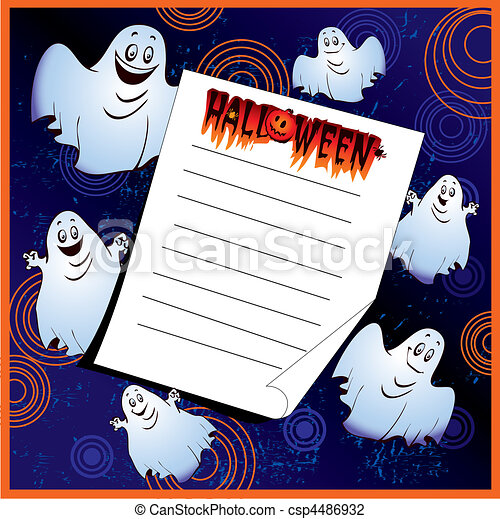 Halloween invitation place for sample text vector art illustration halloween invitation place for sample text vector art illustration on a blue background stopboris Gallery