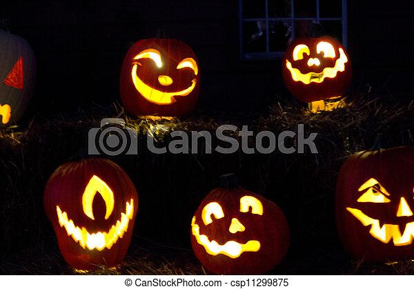 Halloween Jack-o-Lanterns - csp11299875