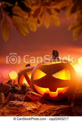 Halloween Jack-O-Lanterns - csp22403217