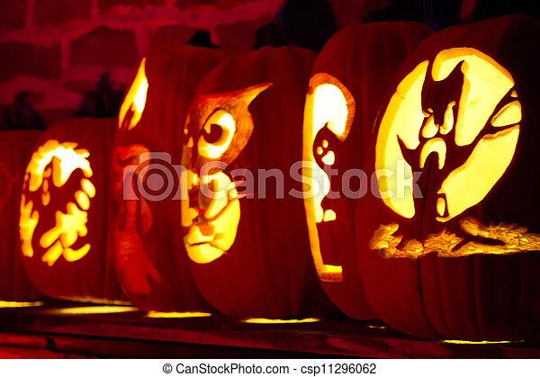 Halloween Jack-o-Lanterns - csp11296062