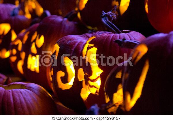 Halloween Jack-o-Lanterns - csp11296157