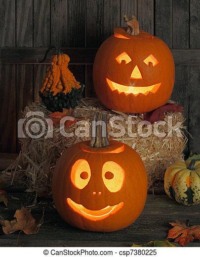 Halloween Jack-O-Lanterns - csp7380225