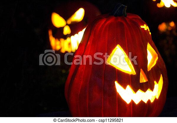 Halloween Jack-o-Lanterns - csp11295821