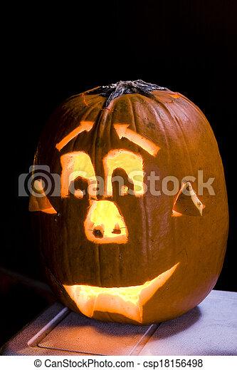 Halloween Jack O Lanterns - csp18156498