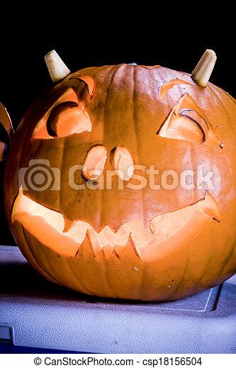 Halloween Jack O Lanterns - csp18156504