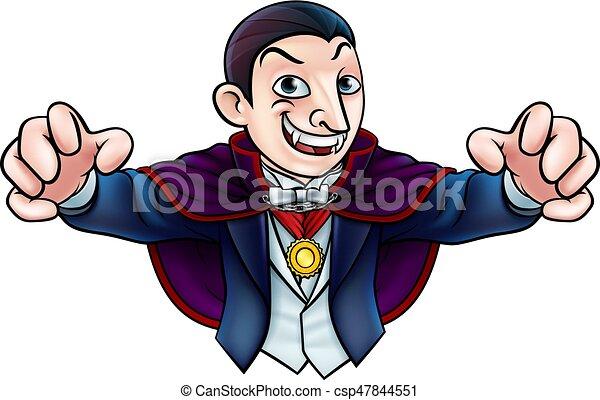 Kartoon Halloween Vampir - csp47844551