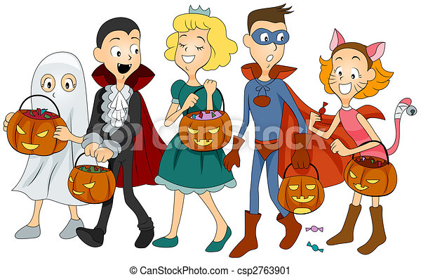 halloween kids kids in halloween costumes clipart search rh canstockphoto com halloween costumes clip art pages halloween costume parade clipart