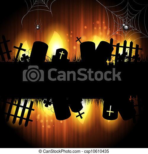 halloween, kyrkogård - csp10610435