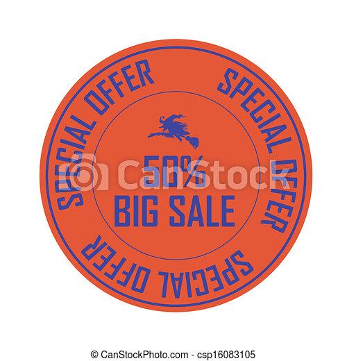 Halloween label - csp16083105