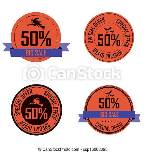 Halloween labels - csp16083095