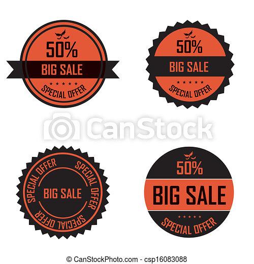 Halloween labels - csp16083088