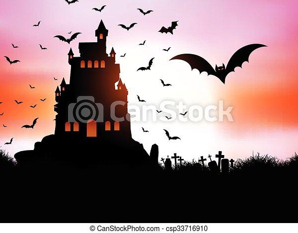 Halloween landscape - csp33716910