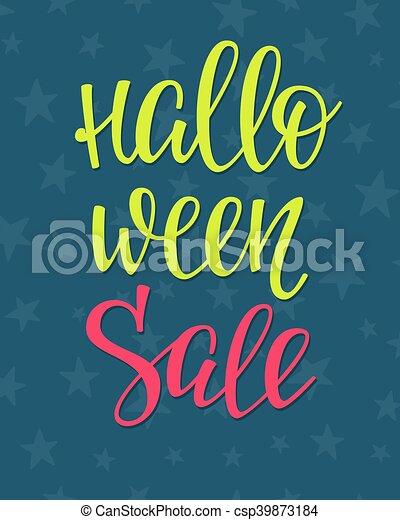 halloween lettering typography happy halloween sale simple