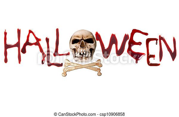 Halloween letters - csp10906858