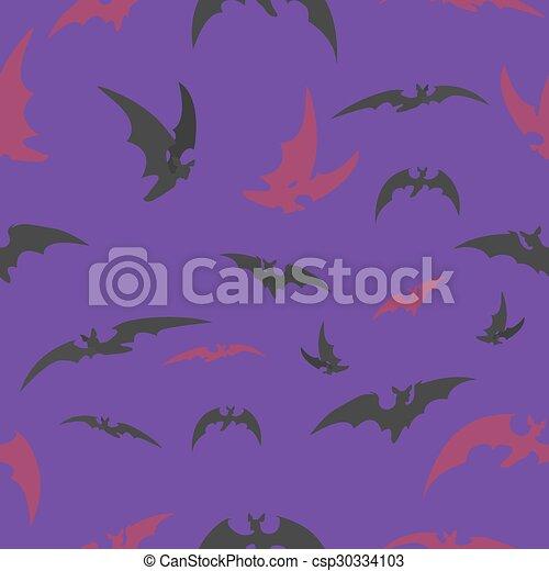 halloween, lila, slagträ, bakgrund - csp30334103