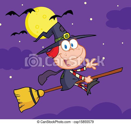 Halloween Little Witch  - csp15855579