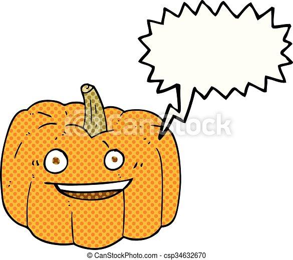 Halloween Livre Parole Comique Bulle Dessin Anime Citrouille
