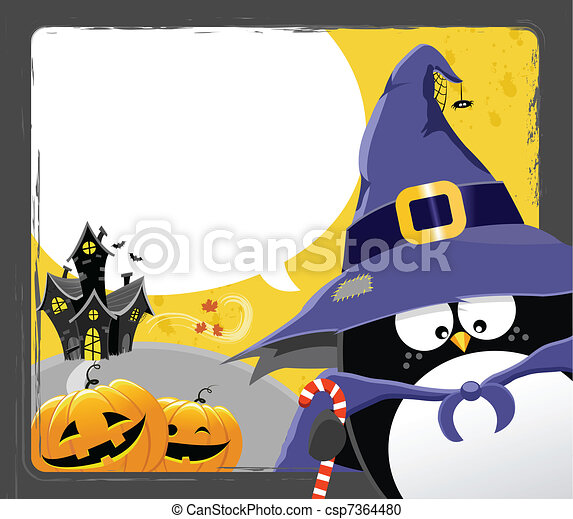 halloween, manchots - csp7364480