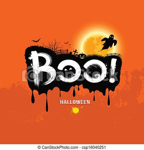 Halloween message boo!. design background, vector... clipart ...