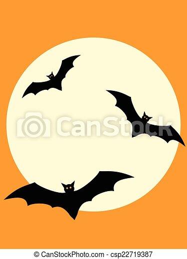 Murciélagos de Halloween - csp22719387