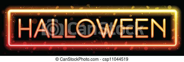 Halloween Neon Party Background - csp11044519
