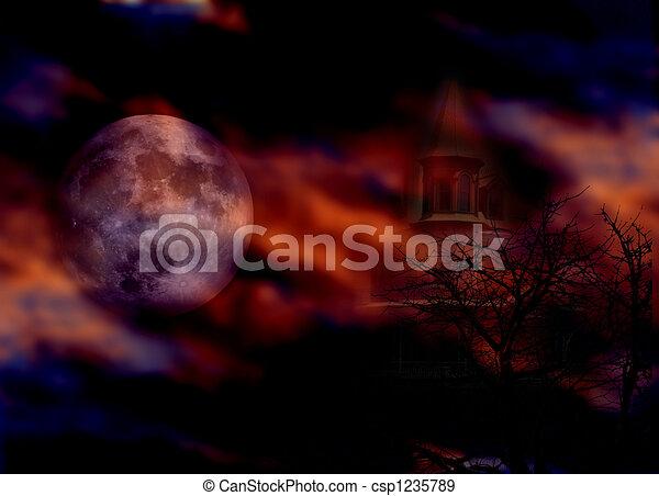 Halloween Night - csp1235789