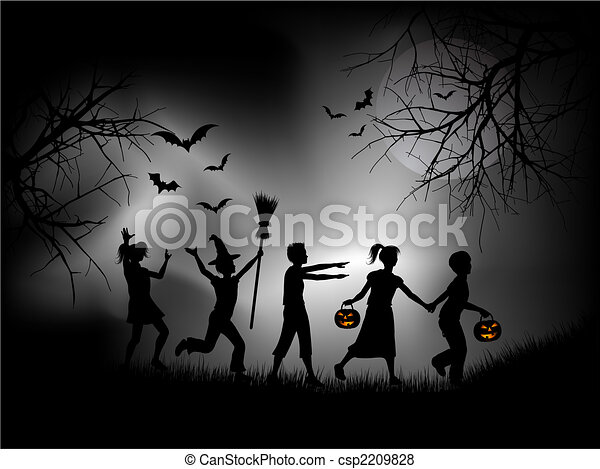 Halloween night - csp2209828