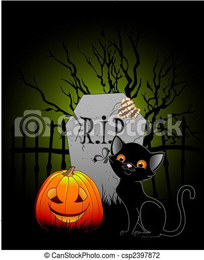 Halloween night - csp2397872