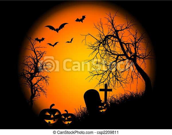 Halloween night - csp2209811
