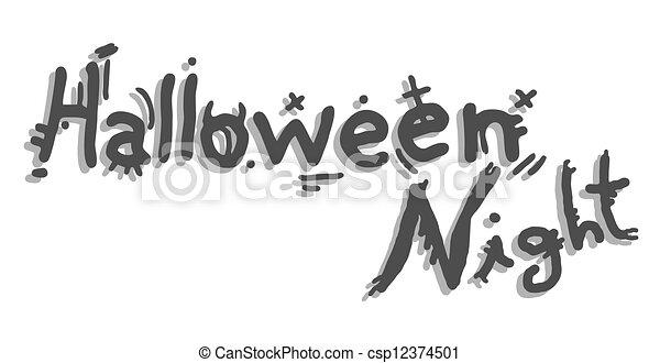 Halloween night - csp12374501