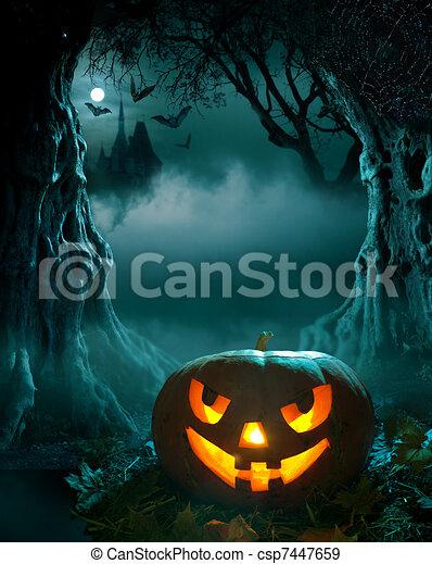halloween, ontwerp - csp7447659