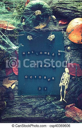 halloween, partie., invitation - csp40369606
