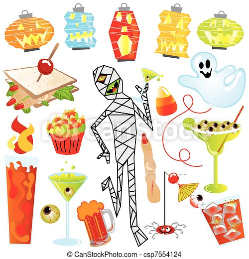 Halloween Party Clip Art - csp7554124