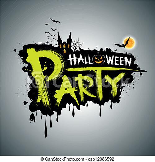 Halloween party. message design - csp12086592