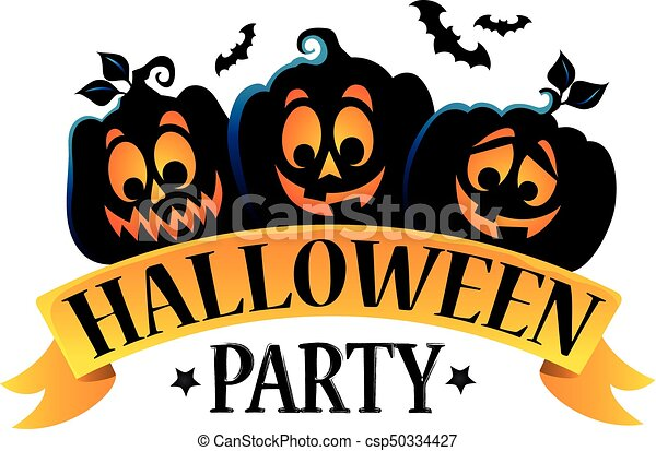 Halloween Party Sign Theme Image 1 - Eps10 Vector ...