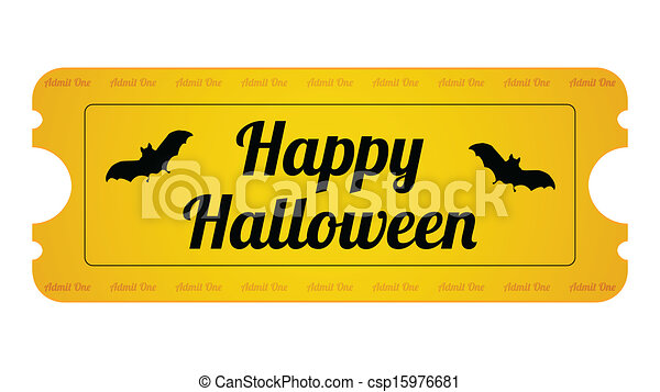halloween party ticket with special design vector search clip art rh canstockphoto com halloween party invitation clipart halloween party clipart free