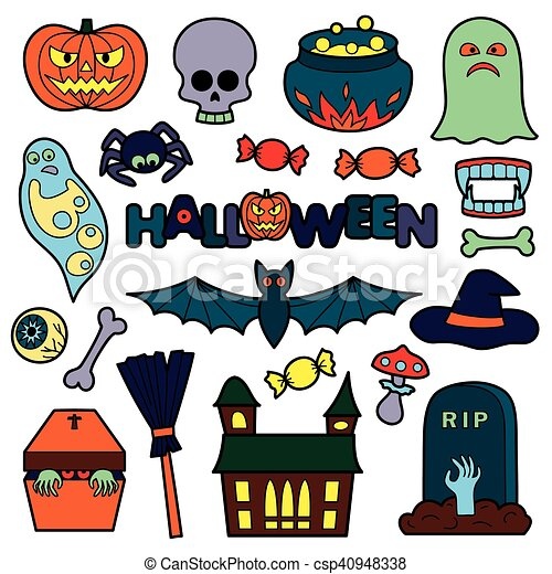 Halloween Patches Set - csp40948338