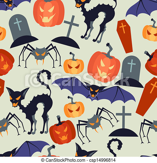 halloween, pattern., seamless - csp14996814