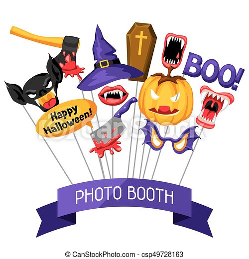 halloween photo booth props accessories for festival and clip rh canstockphoto com halloween party clip art humor halloween party clipart images