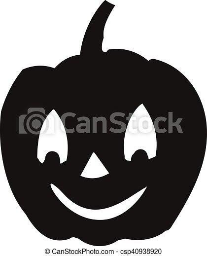 Dag Halloween.Halloween Pictogram Silhouette Dag Pompoen