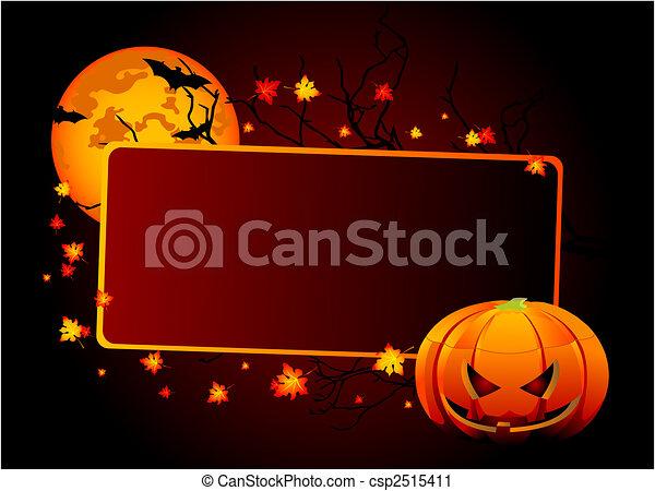 Halloween  place  card - csp2515411