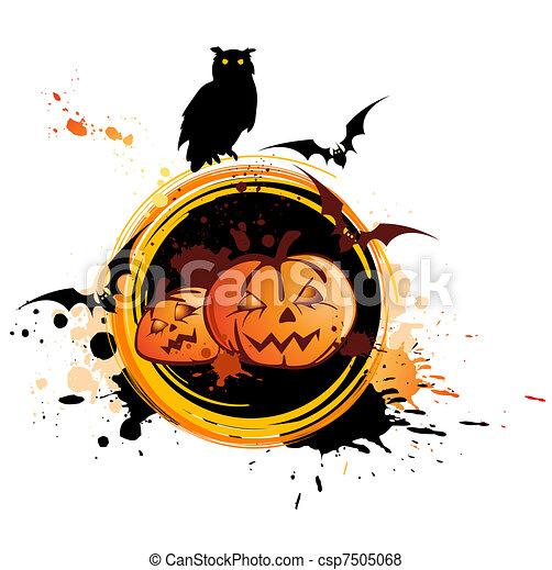 Trasfondo de Halloween con búho - csp7505068