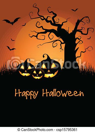 Antecedentes de Halloween - csp15795361
