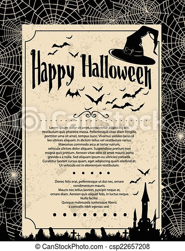 Antecedentes de Halloween - csp22657208