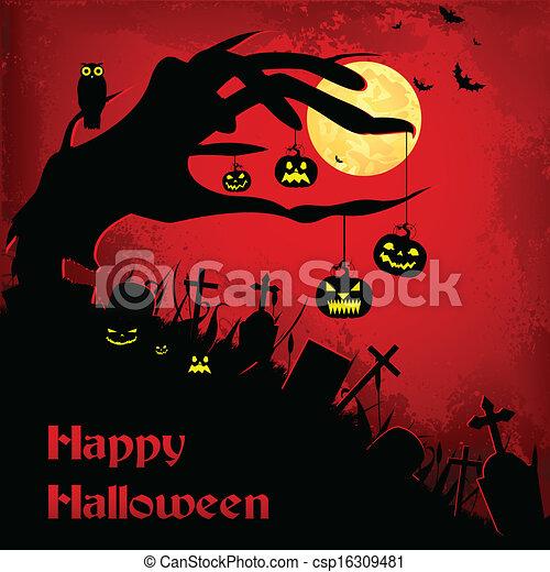 Antecedentes de Halloween - csp16309481