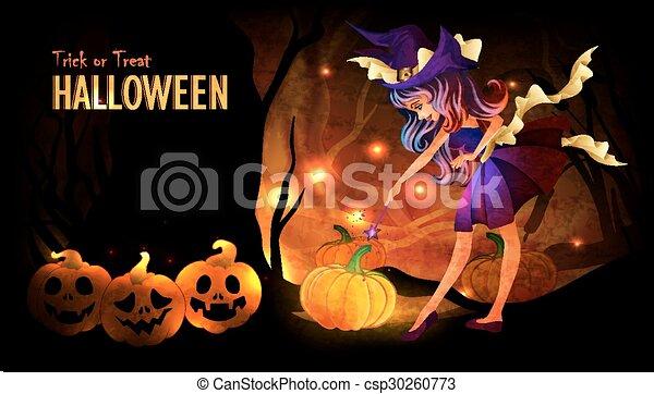 Halloween poster template - csp30260773