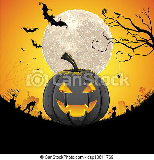 Halloween Pumpkin - csp10811769