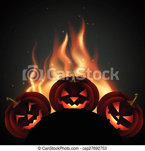 halloween pumpkin - csp27692753