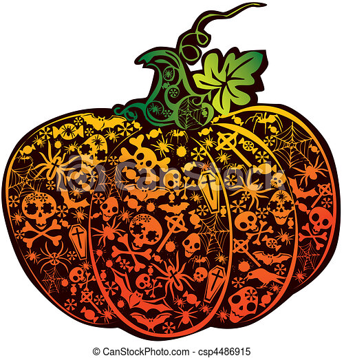 halloween pumpkin vector art illustration on a white background